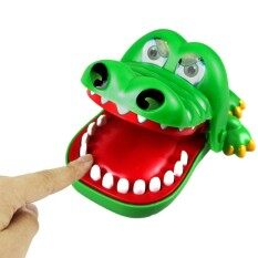 Large Crocodile Mouth Dentist Bite Finger Game Funny Toy Gift By Ypl Heart Store.