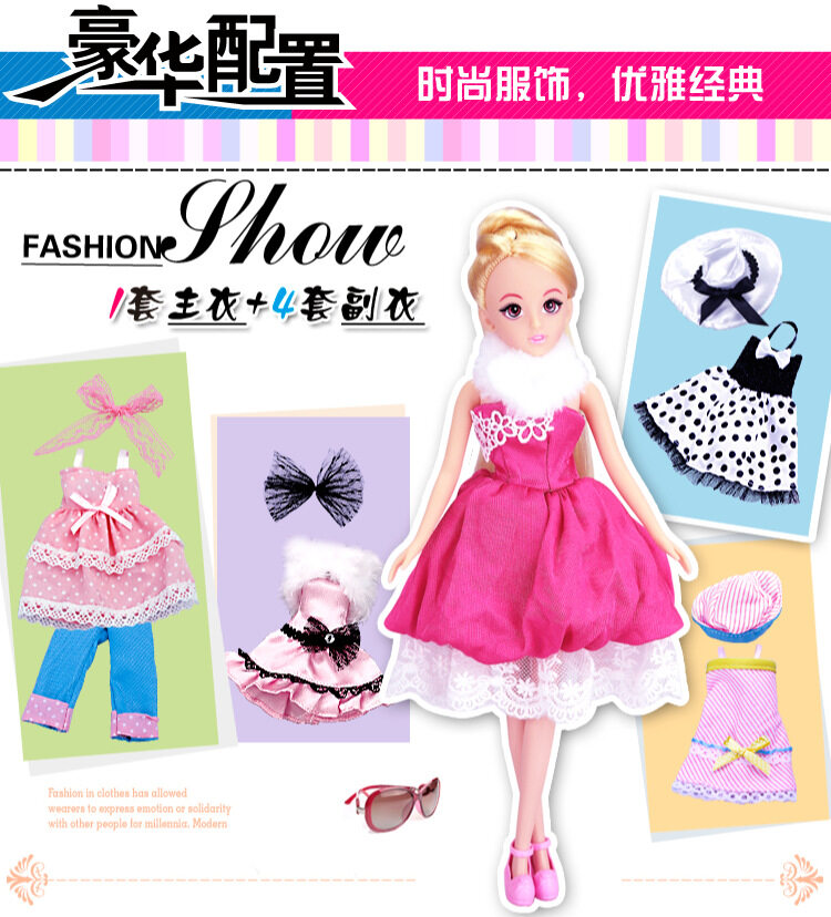 Lelia H30B Kualitas Barang Boneka Barbie Fashion Perubahan Pakaian Boneka  Cocok Sebagai Hadiah Rumah-rumahan b73db8acfe