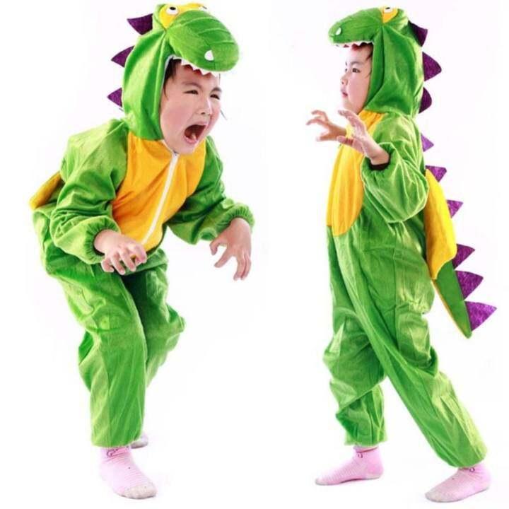 Lemon Cartoon Children Kids Costume Cosplay Clothes Animals Performance Props Halloween Jumpsuit For Boy Girl ( Dinosaur , Size: Xl )
