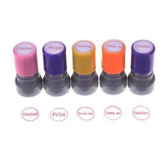 Lightning Power Set Of 5pcs Teachers Self Inking Rubber Stamps Teacher Review Photosensitive For Education Buy