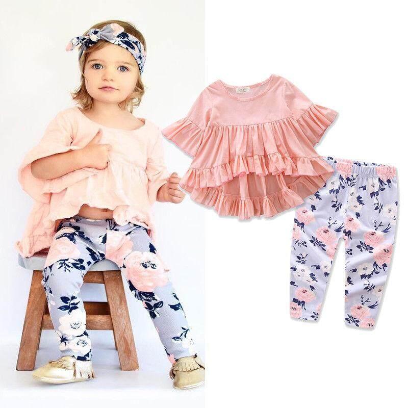 Super Lucu Bayi Girls Renda Decor Baju Monyet Sleeveless Fashion ... - Set pakaian