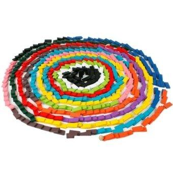 Lt365 120 Pcs Blok Domino Kayu Set untuk Anak-anak Permainan Intelligencebuilding dan Menumpuk Blok Mainan Pendidikan-Warna-warni & Nbsp; -Internasional