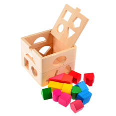 Lt365 13 Holes Intelligence Box For Shape Sorter Cognitive And Matching Wooden Building Blocks Baby Kids Children Eductional Toys By Laza365.