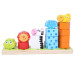 LT365 Cartoon Animal Stacking Wooden Counting Stacker Baby Kids Children Educational Toy