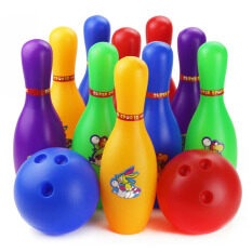 Lt365 Colorful Cartoon Standard 12 Piece Bowling Set W/ 10 Pins, 2 Bowling Balls Children Kids Educational Toy Home Indoor Outdoor Sport(large) By Laza365.