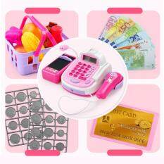 Qimiao Kids Simulation Cash Register Calculator Cashier With Microphone And Sounds Pretend Play Toys Deal