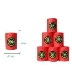 LuckyGirl Store 6Pcs EVA Foam Target Red