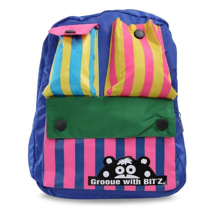 Ld Cute Color Block Pocket School Bag Mini Backpack For Child