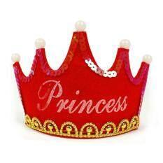 Hình ảnh Luminous Birthday Party Happy Crown Hat color:Red size:princess