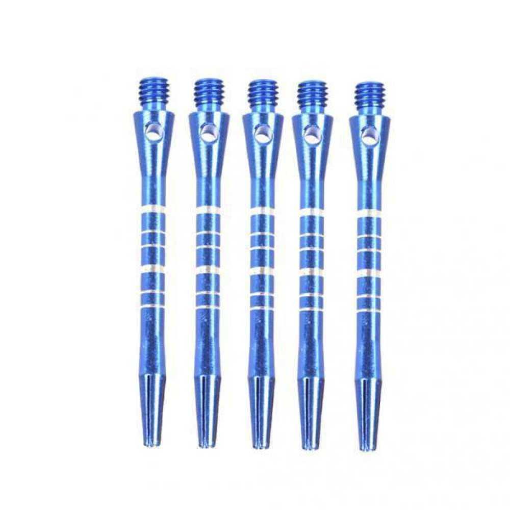 Magideal 2X5 Pc Biru Kembali Alur Bergaris Poros Anak Panah Berlapis 52 Mm Aluminium 2