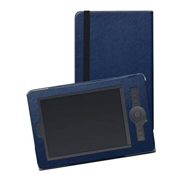 Mama Mouth Wacom Intuos Pro PTH451 Case,Mama Mouth Slim-Book Folio Folding Carry PU Leather Cover for Wacom Intuos Pro Small PTH451 Graphics Tablet,Dark Blue - intl