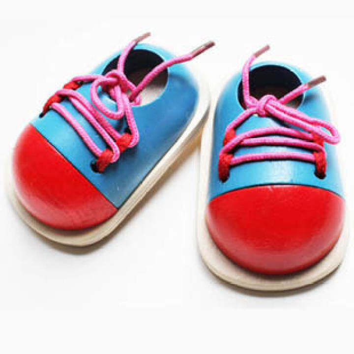 Mengensi children's series shoe lace small shoes Parent and Child teaching