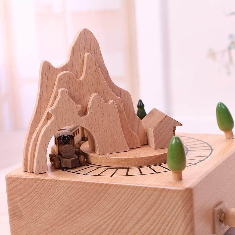 Sale Mini Wodden Train Mountain Music Box For Children Birthday Christmas Gift Intl China