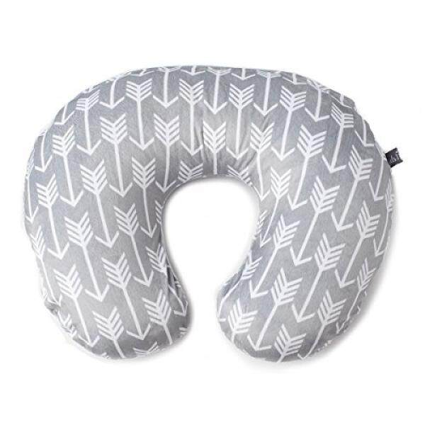 Minky Nursing Pillow Cover Arrow Pattern Slipcover Best for Breastfeeding Moms Soft Fabric Fits Snug On Infant Nursing Pillows to Aid Mothers While Breast Feeding Great Baby Shower Gift - intl