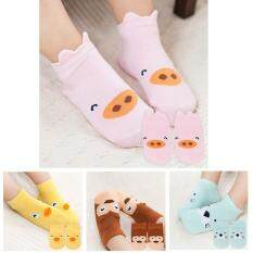 Mix Color 4 Pairs Cartoon Baby Girls Socks By Tuyue Technology.