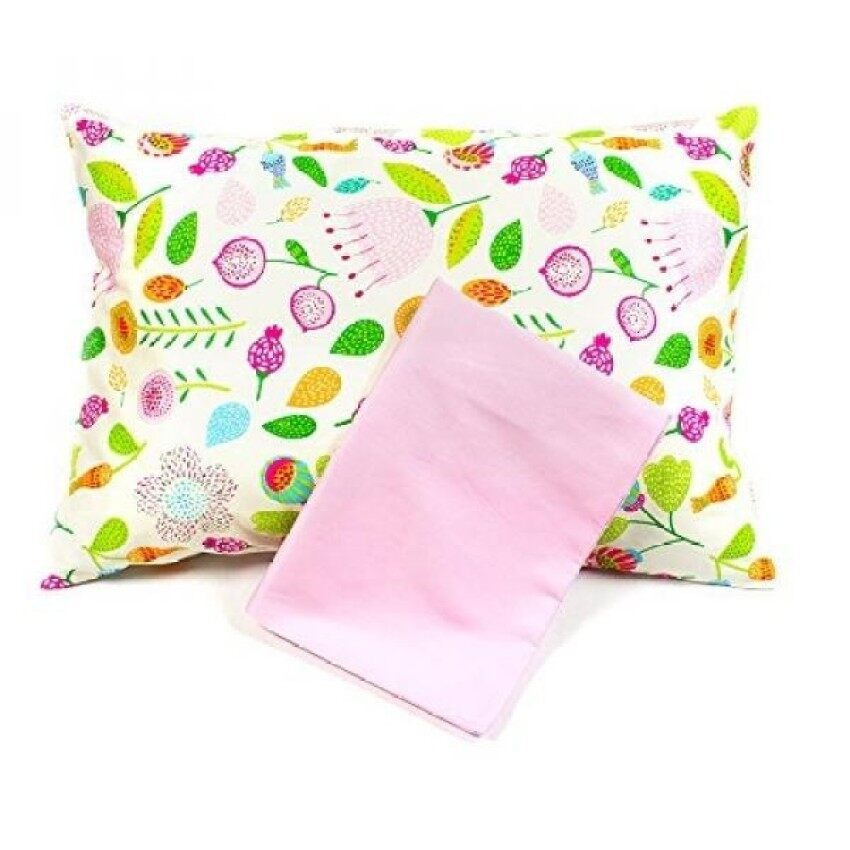 maddie moo toddler pillow case fits 13x18 and 14x19 toddler and travel pillows baby pink white - Toddler Pillow Case