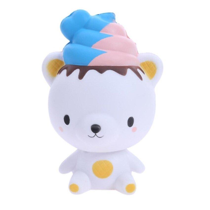 MU Back In Shape Slowly Toy Pu Decor Ice Cream Bear Simulation .