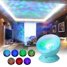 Multicolor Ocean Wave Light Projector Nightlight With Mini Music Player For Living Room And Bedroom Novelty Baby Lamp Black By Haitao.