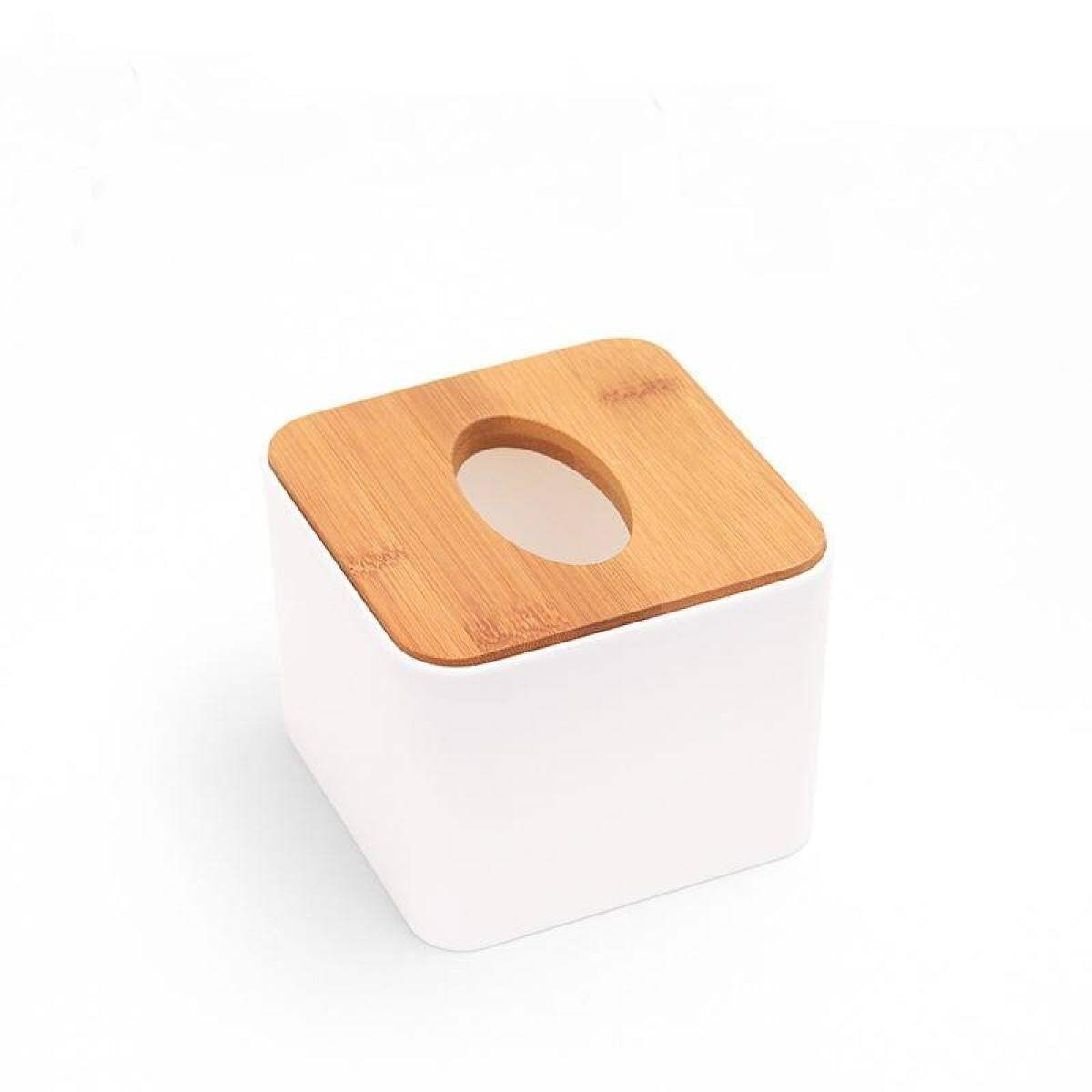 Multifunctional Wooden Tissue Box Modern Simple Home Car Decoration Plastic Napkin Storage Case Paper Container