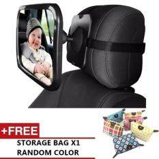 Mum Father Child Adjustable Baby Car Seat Safety Parent View Travel Mirror Stroller Milk BLACK