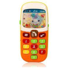 Music Baby Phone Keypad Phone Toy Early Educational Visual Hearing Training Toy Random Color By Sa Yanyi.