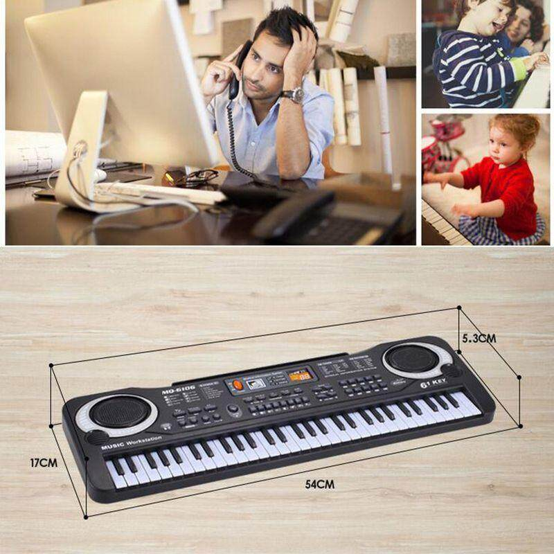 Music Keyboard 61 Keys Digital Electric Piano Musical With Microphone For Child - intl