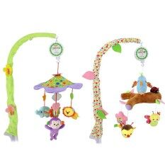 Musical Stroller Crib Toy Mobile Bed Bell Lovely Animals Rotating Hanging Bells For Boys And Girls Color:green By Hiquuen.