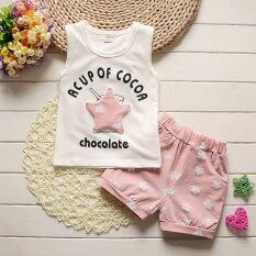 3a576f45d New 2018 fashion Baby Boys Clothes Sets Star Printed Summer Baby Clothing  Sets Vest+Pants