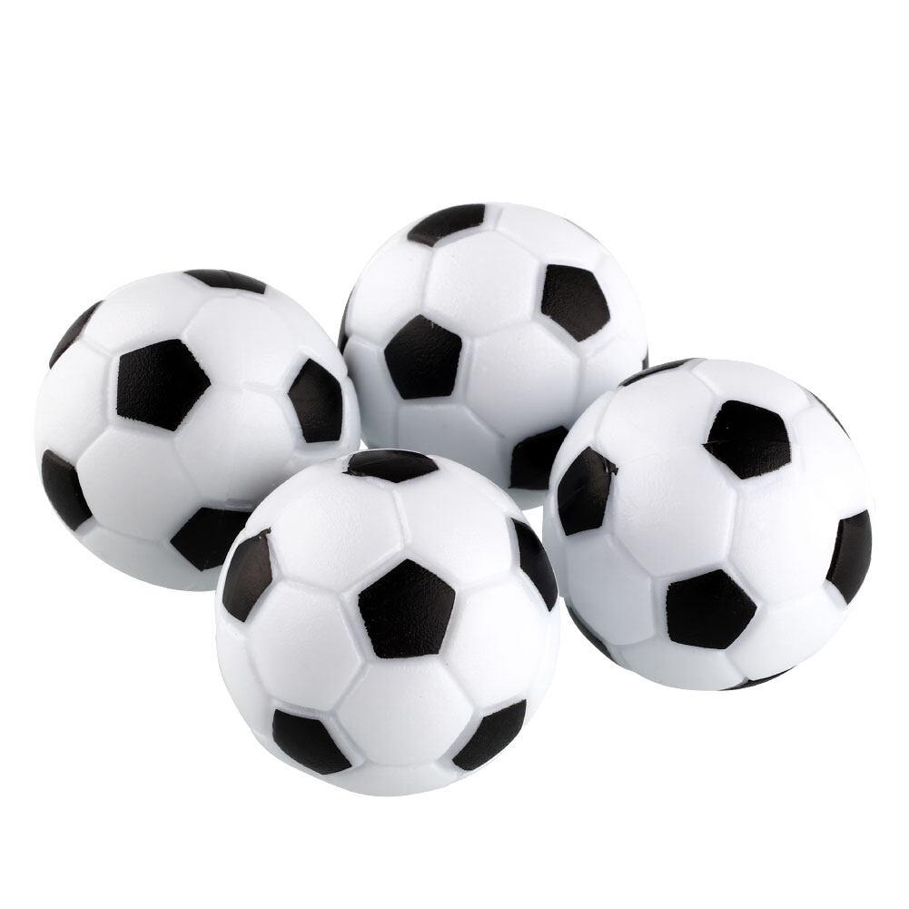 Baru Fun Plastik 4 Pcs 32 Mm Meja Sepak Bola Bola Fussball Permainan Hitam + Putih-Internasional