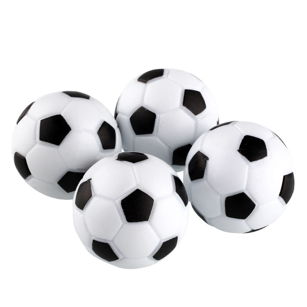 Hình ảnh New Fun Plastic 4pcs 32mm Soccer Table Ball Fussball Indoor Game Black+White - intl