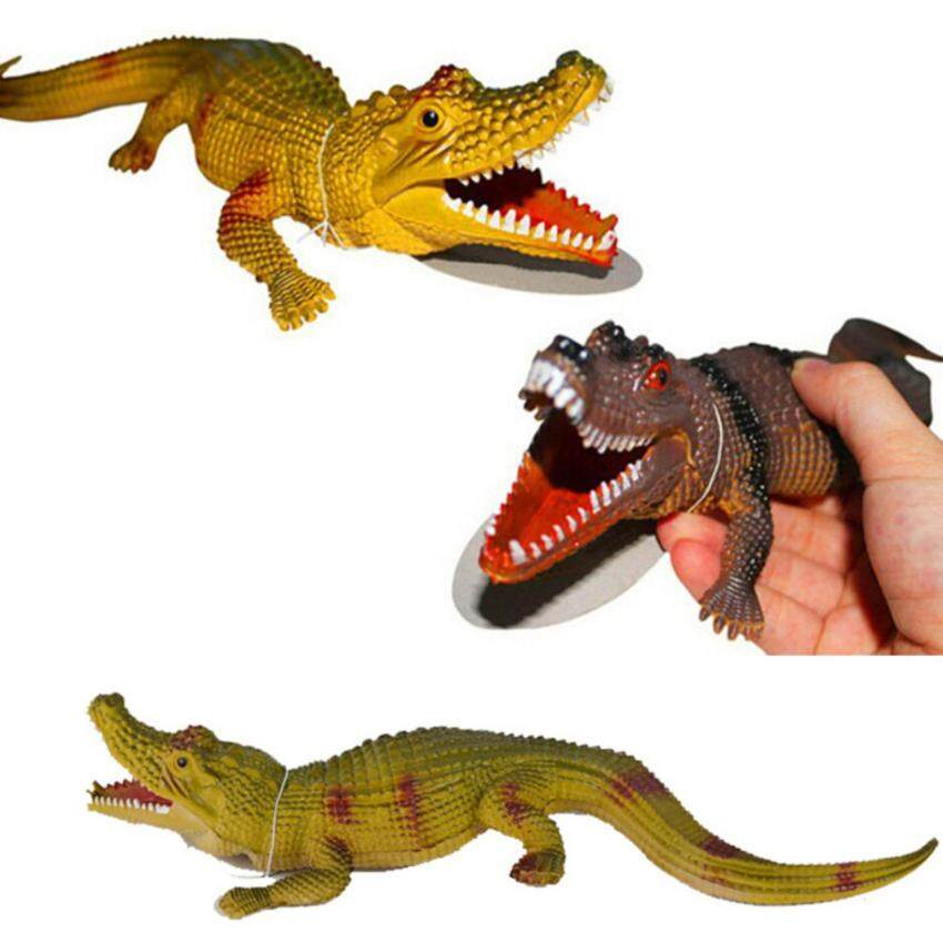 New Funny Exotic Simulation Small Crocodile Model Vocal Crocodile Tricky Vent Toys Gift