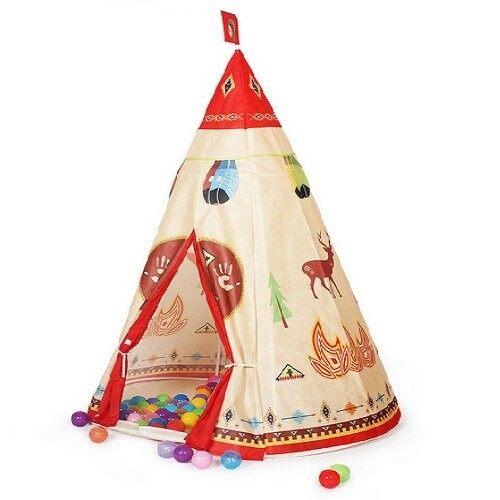 ใหม่เด็กทารกเด็กแบบพกพาบ้านเป่าลมสำหรับเด็ก Hut Play (สีแดง) - Intl By Jinjiang City Anhai Far East Limited.