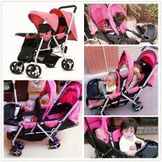Rabbit Double Seat Toddler Twins Baby Stroller Light Weight Baby Stroller Travel Stroller Twin Stroller Double Stroller ZP-3012 9.60kg+/