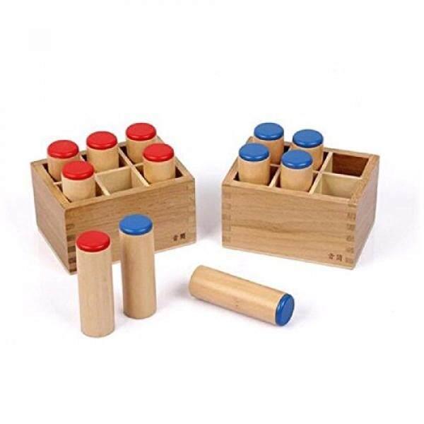 Baru Sensor Montessori Pendengaran Bahan-Suara Silinder Kotak Suara Anak-anak Mainan Edukasi untuk