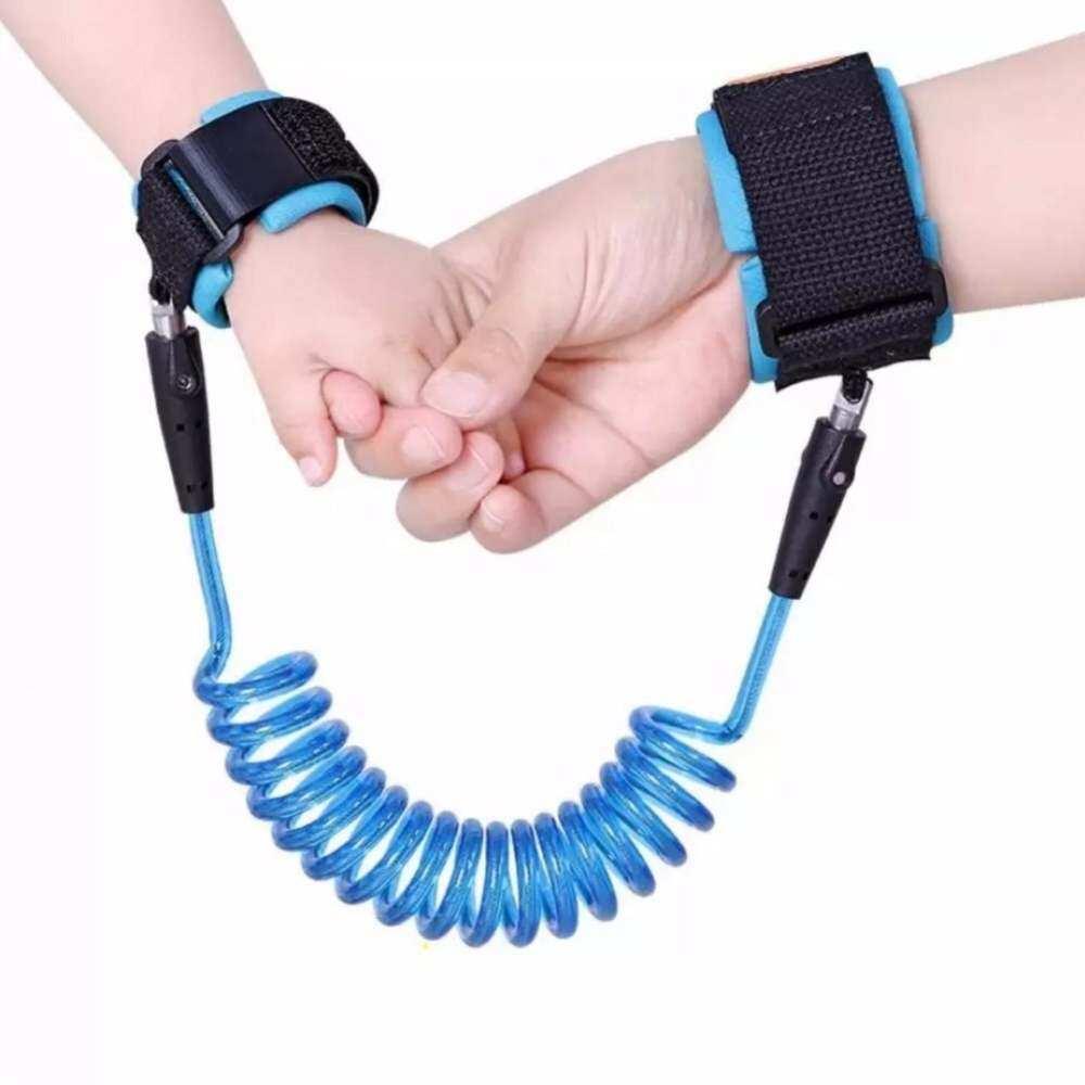 HSGA16RS Tahun Baru 2.5 Meter Anak Anti Hilang Band Bayi Keselamatan Pergelangan Tangan Harness Berjalan Biru