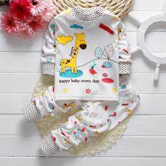 เด็กทารกหญิงแรกเกิดเสื้อแขนยาวเด็กชายคอกลม Warm Tops + กางเกง 2 73/50.
