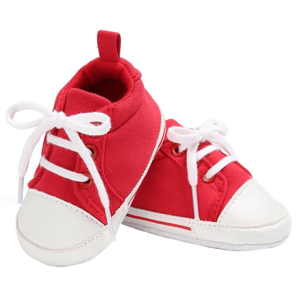 Buy Sell Cheapest Baby Boy Prewalker Best Quality Product Deals Sepatu Bayi Laki Tamagoo David Series Shoes  3 6 Bulan Abu Muda Newborn Girl Lembut Sole Kanvas Sneaker Merah 12 Cm