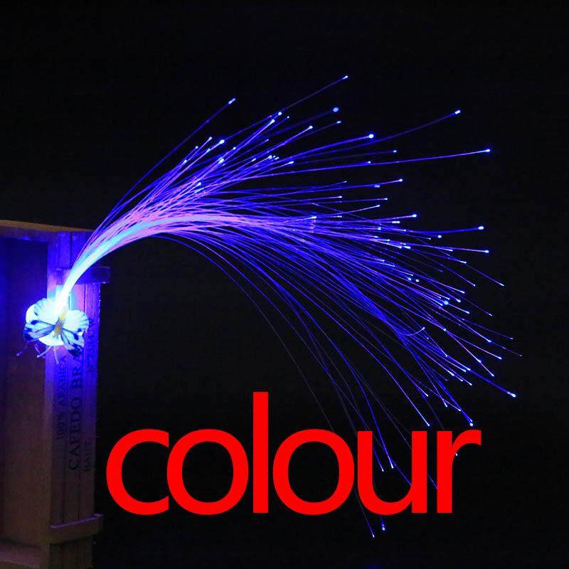 Hình ảnh Newworldmall New Gift Funny Toys LED Fiber Optic Butterfly Headband Hairpin Light-Up Hair Braids Flash Party - intl