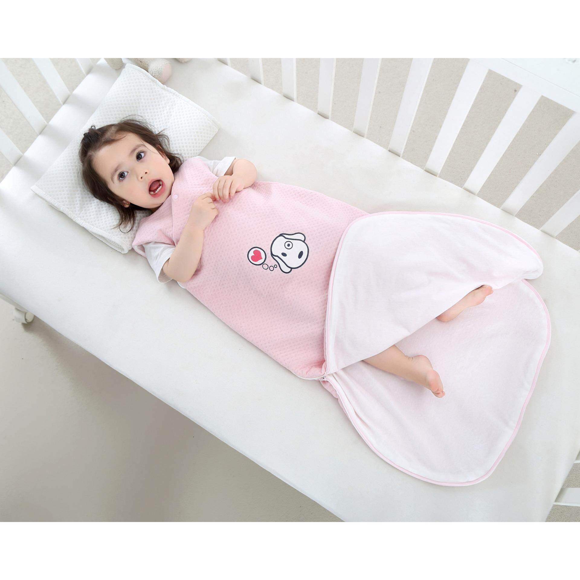 NiceEshop Baby Sleeping Bag Wearable Blanket 100% Cotton Sleepsack Di Musim Panas, Hitam dan Putih-Internasional