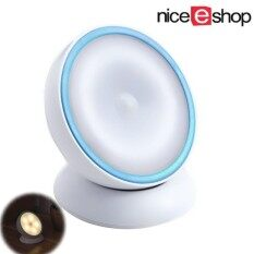 Niceeshop Motion Sensor Light [ Usb Rechargeable, Stick On Anywhere, Magnet Design For 360 Degree Rotation ] Led Night Light Wall Light Step Light For Hallway Closet Stairs Kids Bedroom(warm White, Blue) By Nicee Shop.