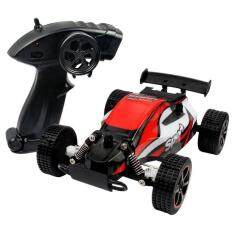 niceEshop Racing Car,CR 2.4 GHz 1:20 Remote Control Racing Buggy Car Crazy Speed RC Off Road Truck With 4 Wheel Shock Absorbers Aggressive Drifting/Stunts Car RTR Red