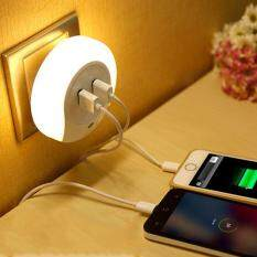 Night Light Dusk Dawn Sensor Home Lamps Usb Charger Light Fixtures Decor Accent By Huyia.