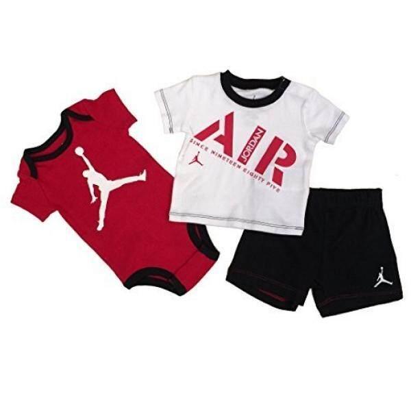 f394b9217 Nike Jordan Infant New Born Baby Bodysuit and Pants 3 Pcs Layette Set - intl