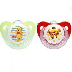 Nuk Disney Silicone Soother (6-18 Mths) - Twin Pack - Winnie The Pooh & Tiger By Mom & Me.