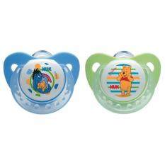Nuk Disney Silicone Soother S2 (6-18mths) - Twin Pack - Winnie The Pooh & Eeyore By Mom & Me.