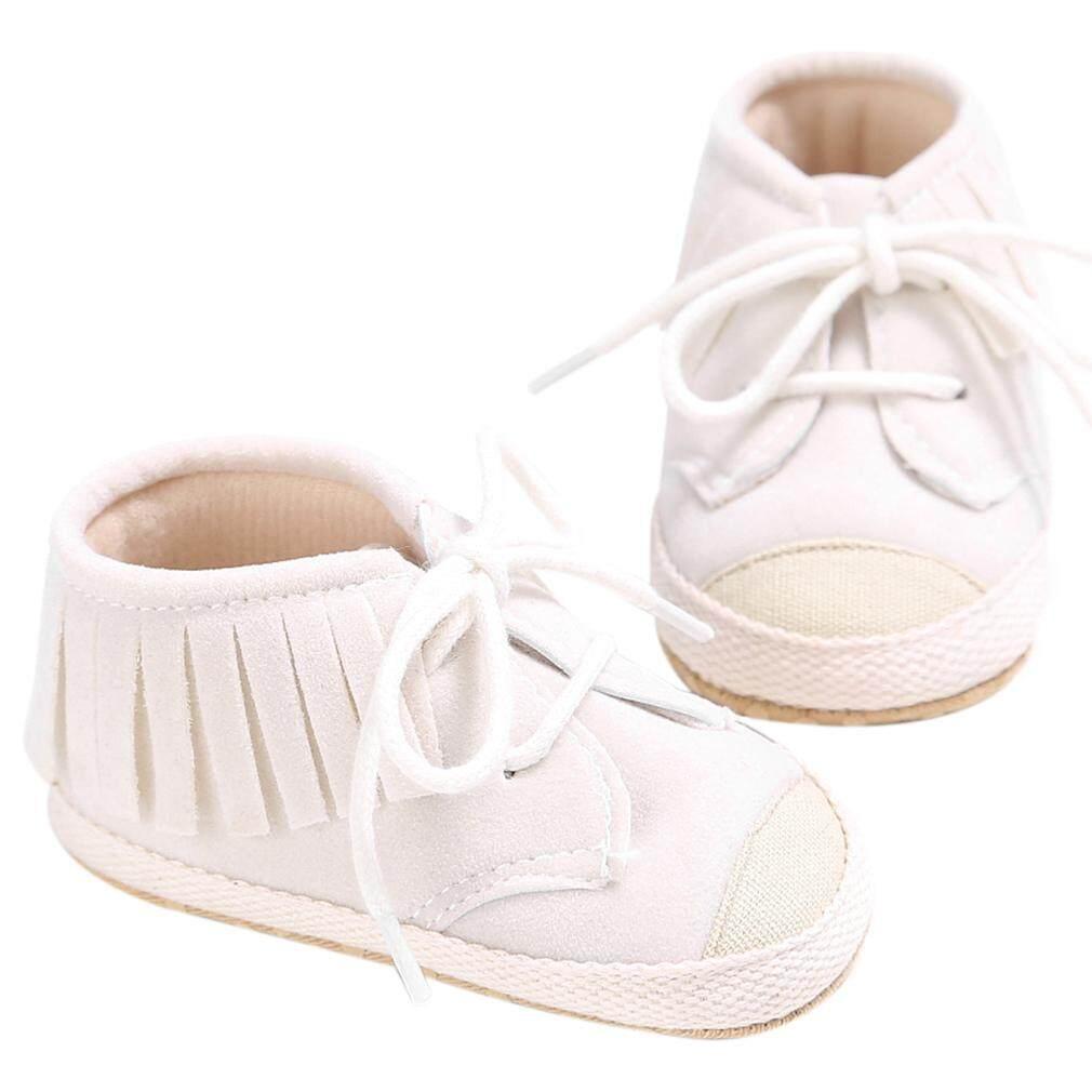 Oh Anak-anak Bayi Baru Lahir Tali Sepatu Rumbai Sol Lembut Pertama Walker  Sepatu Kanvas 8d80de8bcf