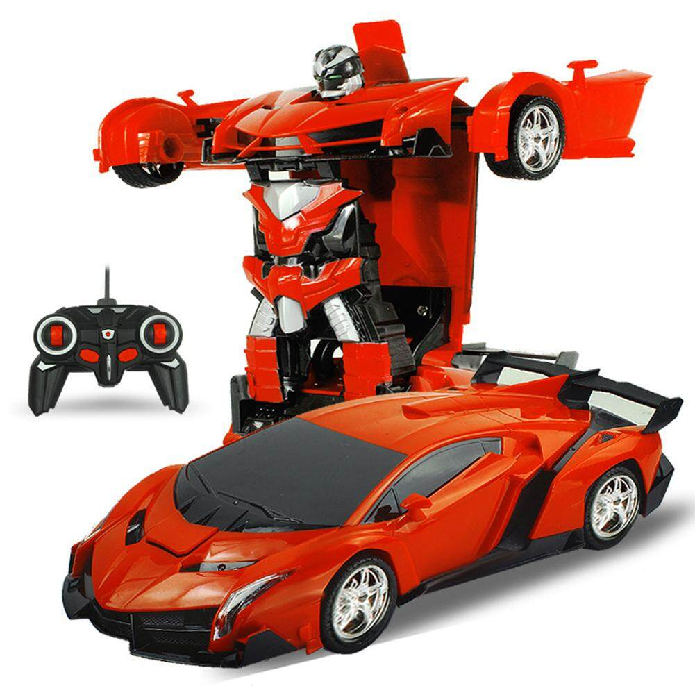 Buy Lucky G Store One Key Deformation Robot Toy Transformation Electric Car Model With Remote Controller Style 1 18 Intl Oem Online