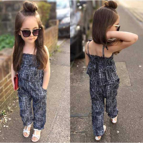 32f4c1634501 One-piece Kids Baby Girls Backless Playsuit Jumpsuit 2-7Y Clothes Romper  Overall