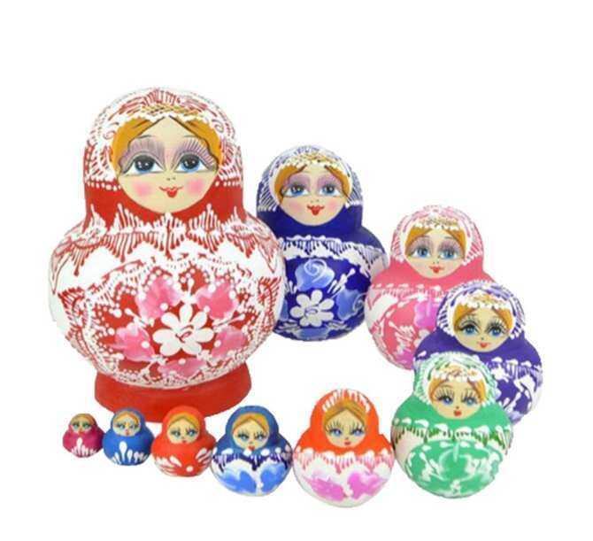 ooplm Handmade Cutie Nesting Doll Madness Russian Matryoshka Doll (Mixed Color) - intl ...