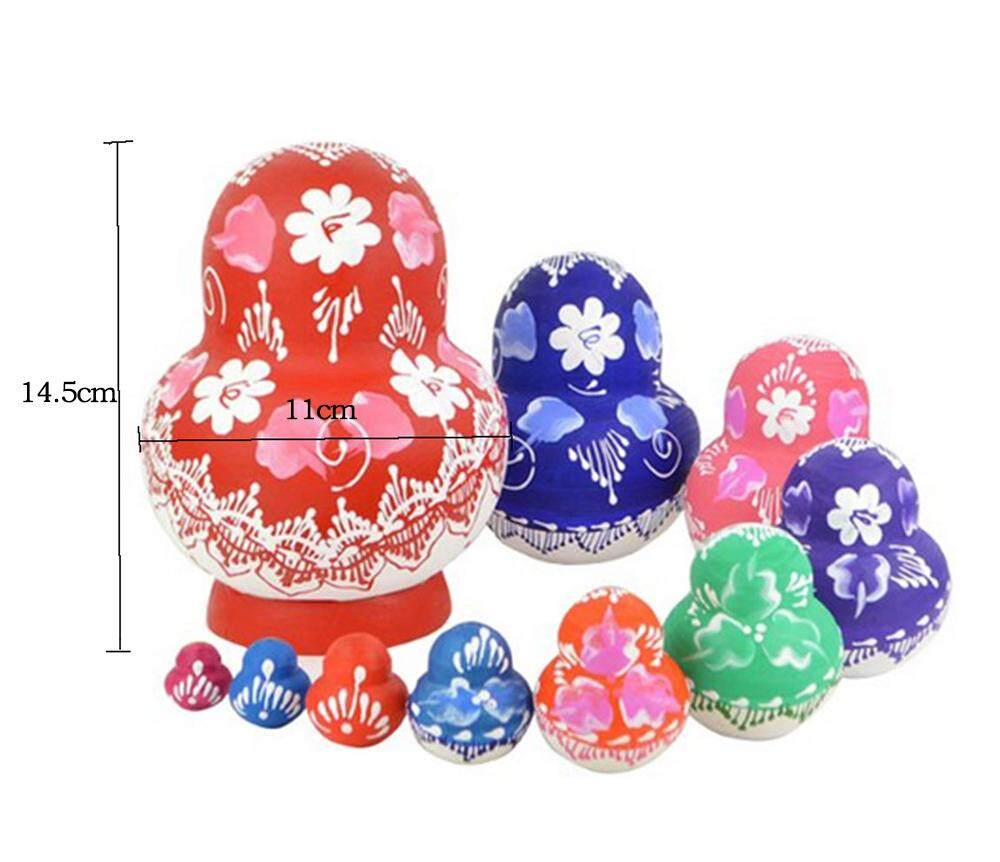 ooplm Handmade Cutie Nesting Doll Madness Russian Matryoshka Doll (Mixed Color) - intl giá chỉ 333.000 ₫